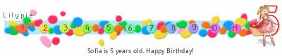 Lilypie Fifth Birthday (B75W)