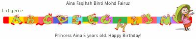 Lilypie Fifth Birthday (f5OP)
