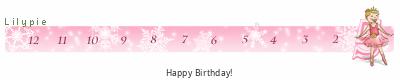Lilypie Fifth fødselsdag tickers
